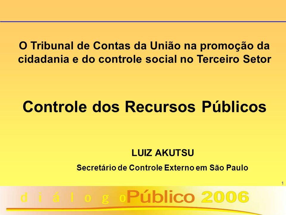 Controle dos Recursos Públicos
