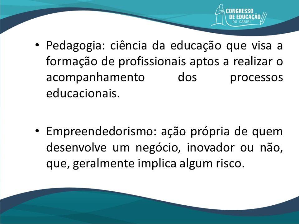 Pedagogia: ciência da educação que visa a formação de profissionais aptos a realizar o acompanhamento dos processos educacionais.