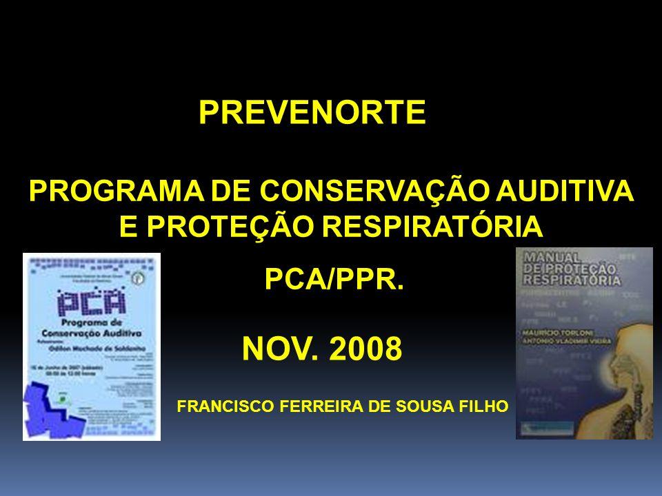 PROGRAMA DE CONSERVAÇÃO AUDITIVA E PROTEÇÃO RESPIRATÓRIA