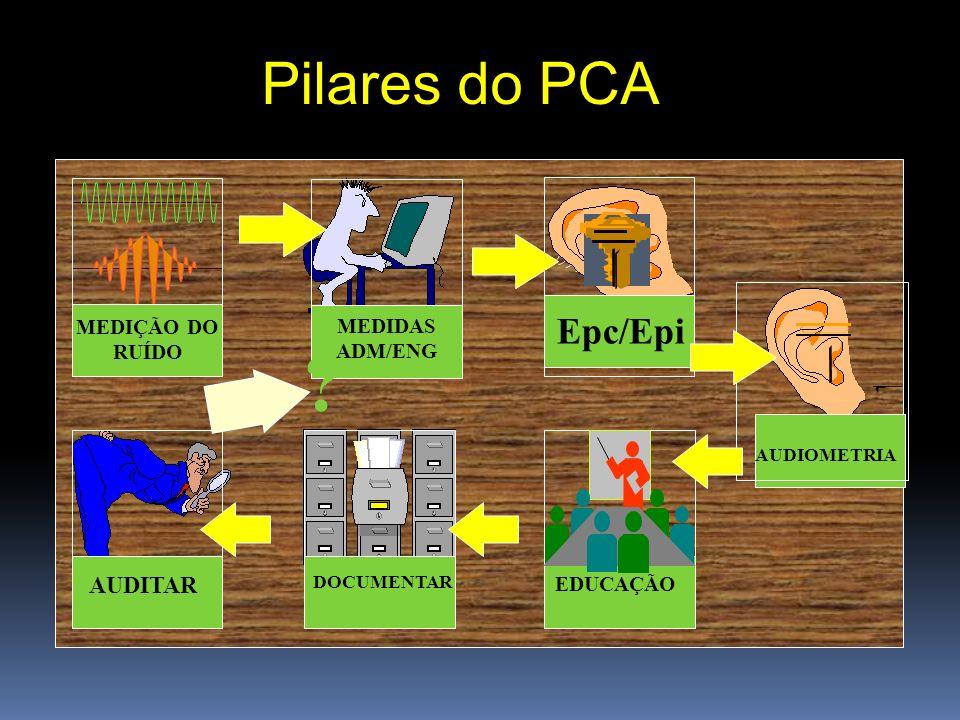 Pilares do PCA Epc/Epi AUDITAR MEDIÇÃO DO RUÍDO MEDIDAS ADM/ENG