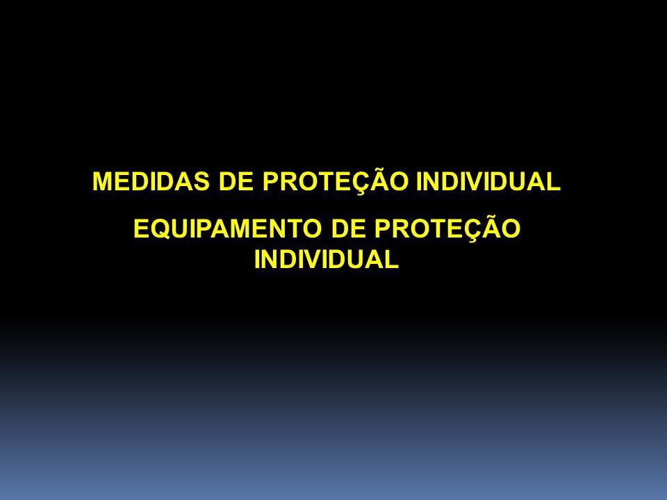 MEDIDAS DE PROTEÇÃO INDIVIDUAL EQUIPAMENTO DE PROTEÇÃO INDIVIDUAL