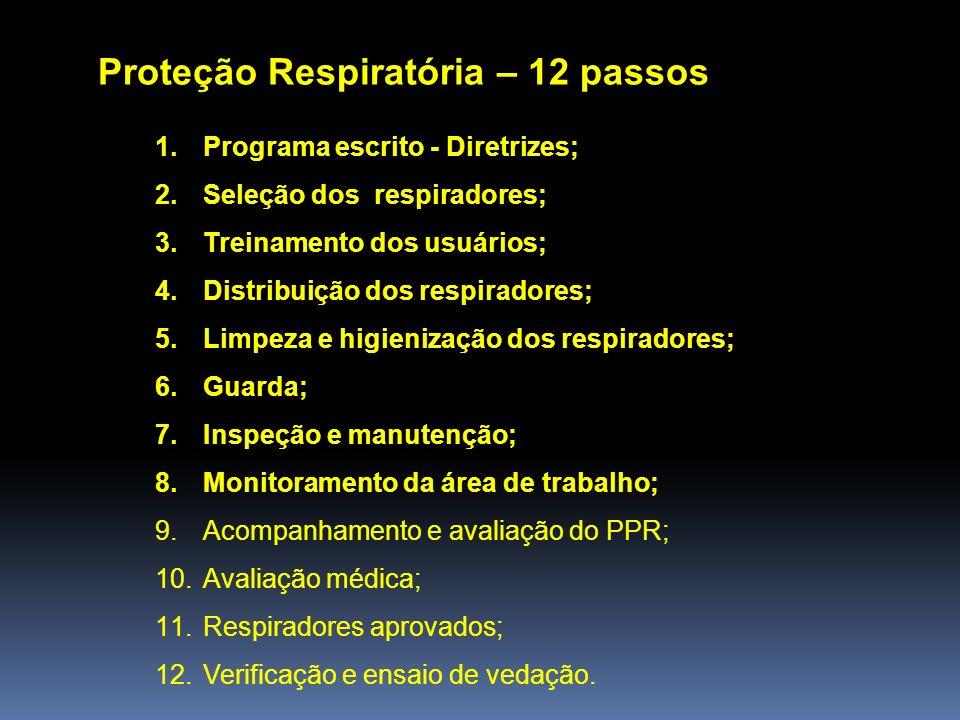 Proteção Respiratória – 12 passos