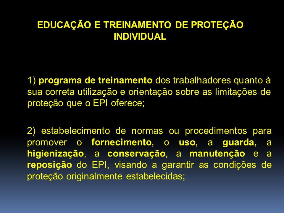 EDUCAÇÃO E TREINAMENTO DE PROTEÇÃO INDIVIDUAL