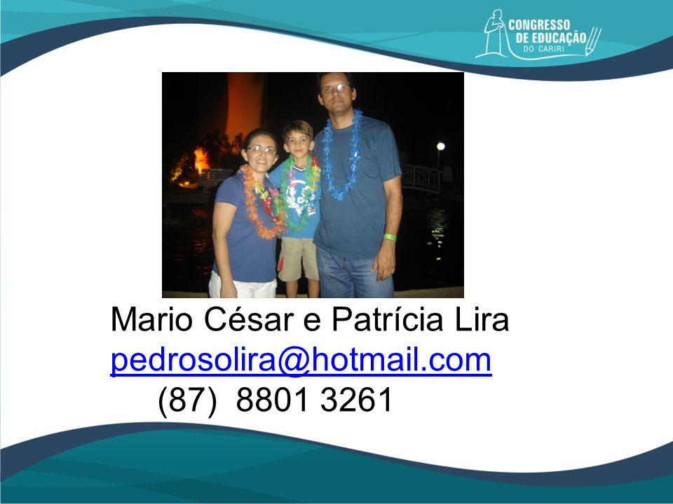 Mario César e Patrícia Lira