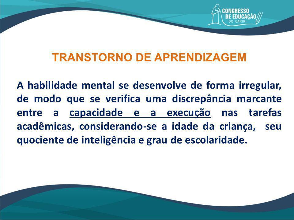 TRANSTORNO DE APRENDIZAGEM