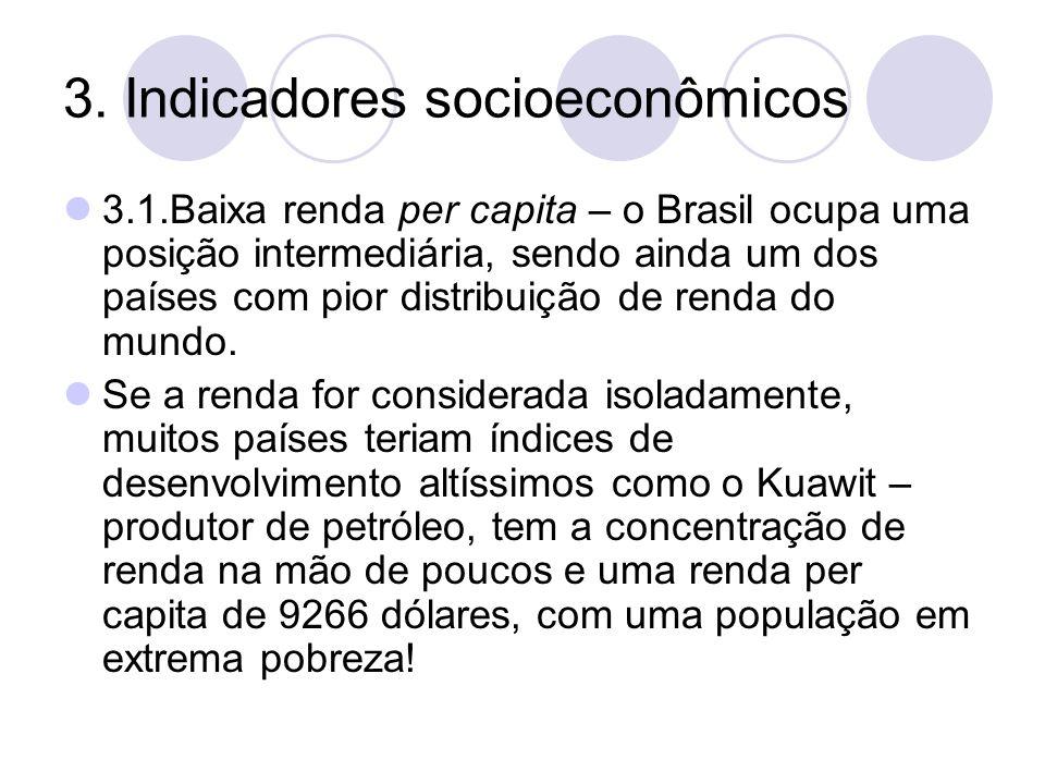 3. Indicadores socioeconômicos