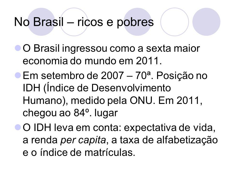 No Brasil – ricos e pobres