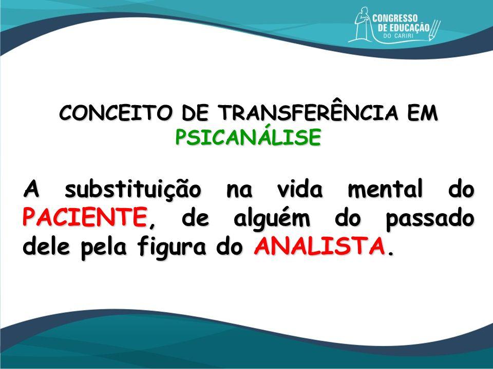 CONCEITO DE TRANSFERÊNCIA EM PSICANÁLISE