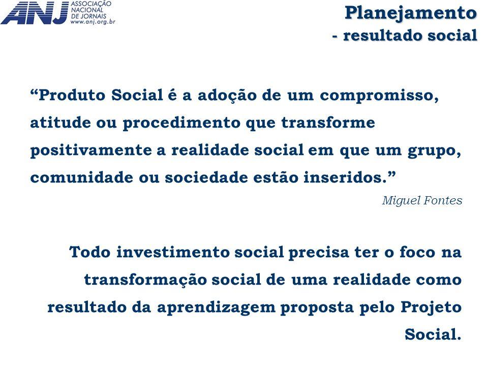 Planejamento - resultado social