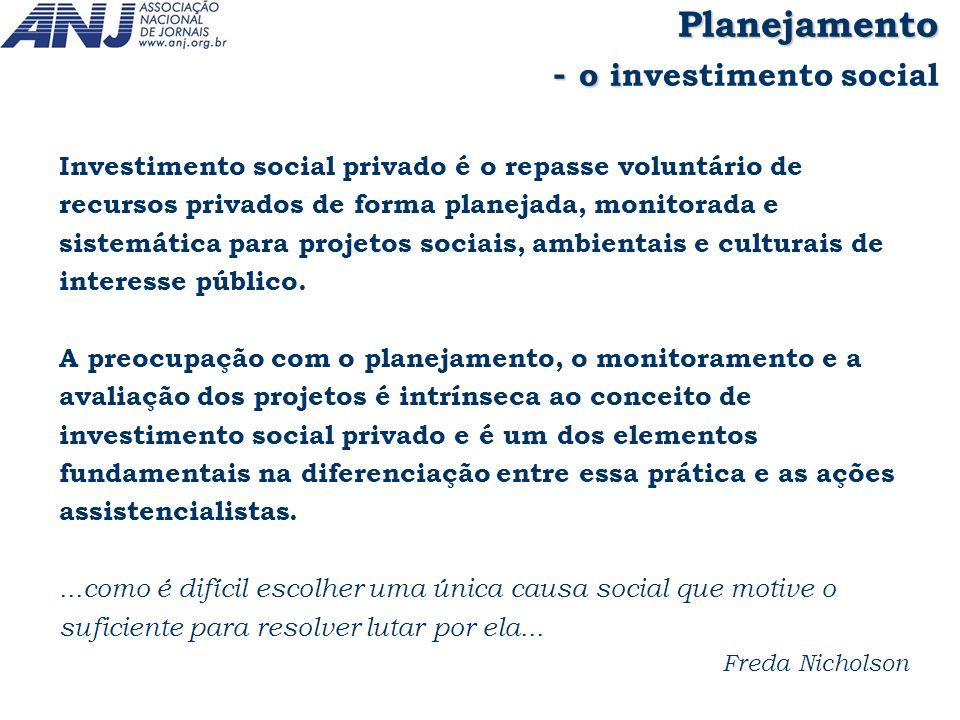 - o investimento social