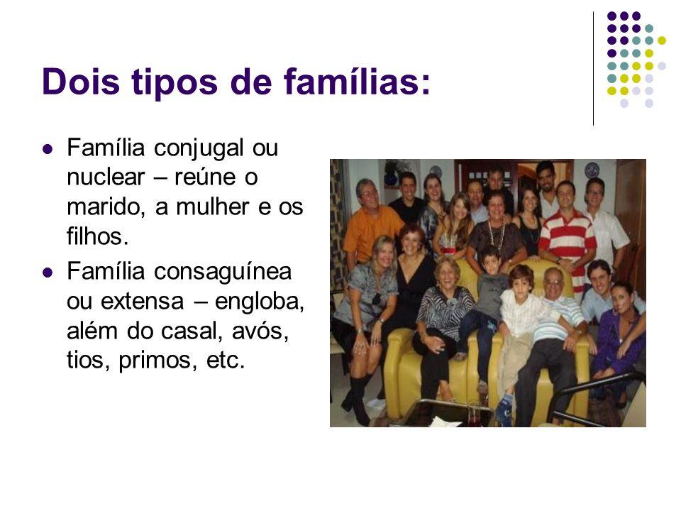 Dois tipos de famílias:
