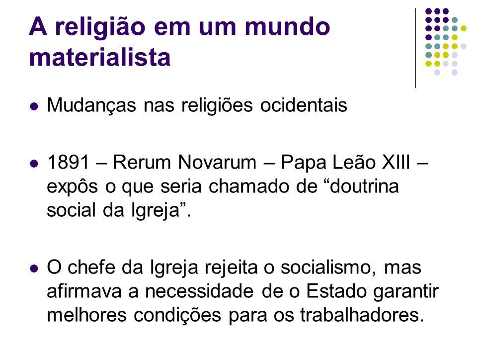 A religião em um mundo materialista
