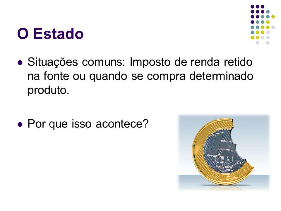O EstadoSituações comuns: Imposto de renda retido na fonte ou quando se compra determinado produto.