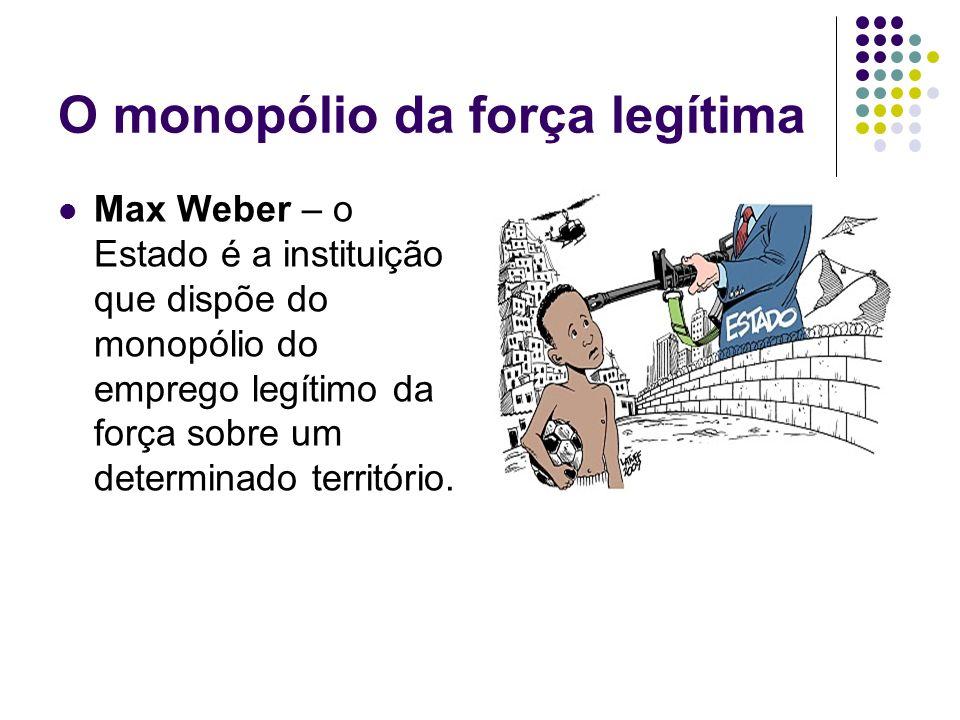 O monopólio da força legítima