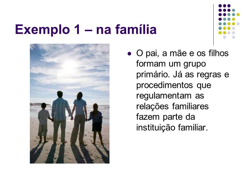 Exemplo 1 – na família