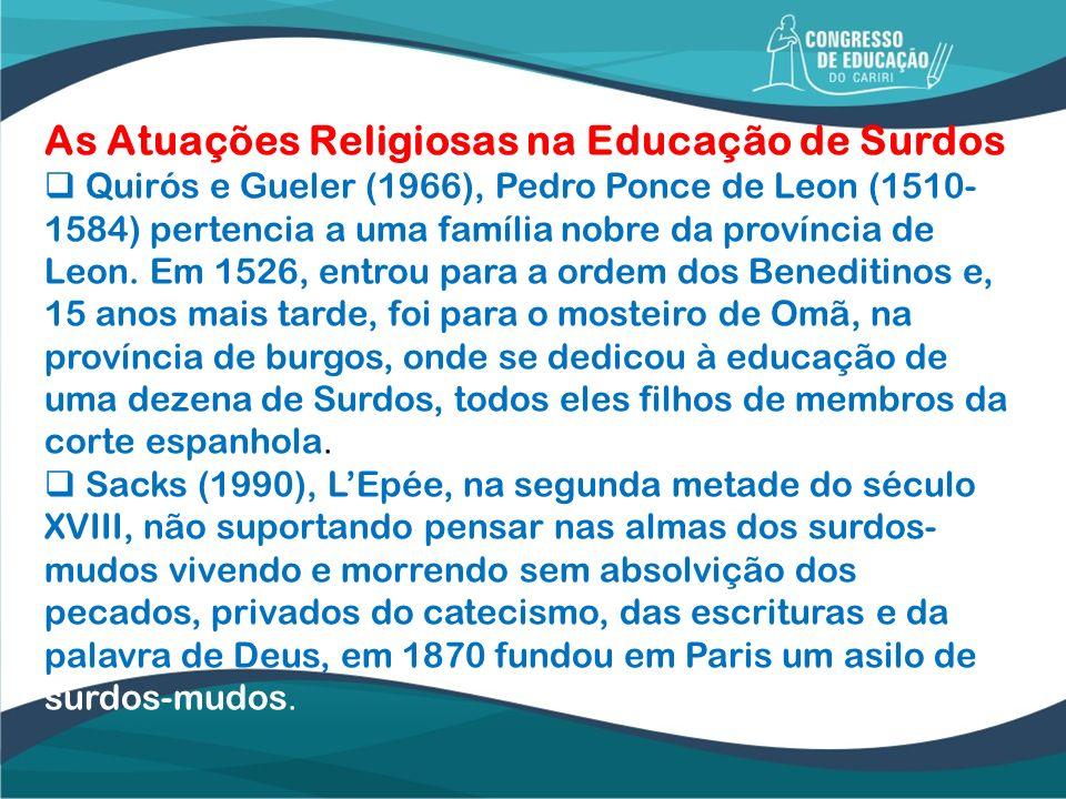 As Atuações Religiosas na Educação de Surdos