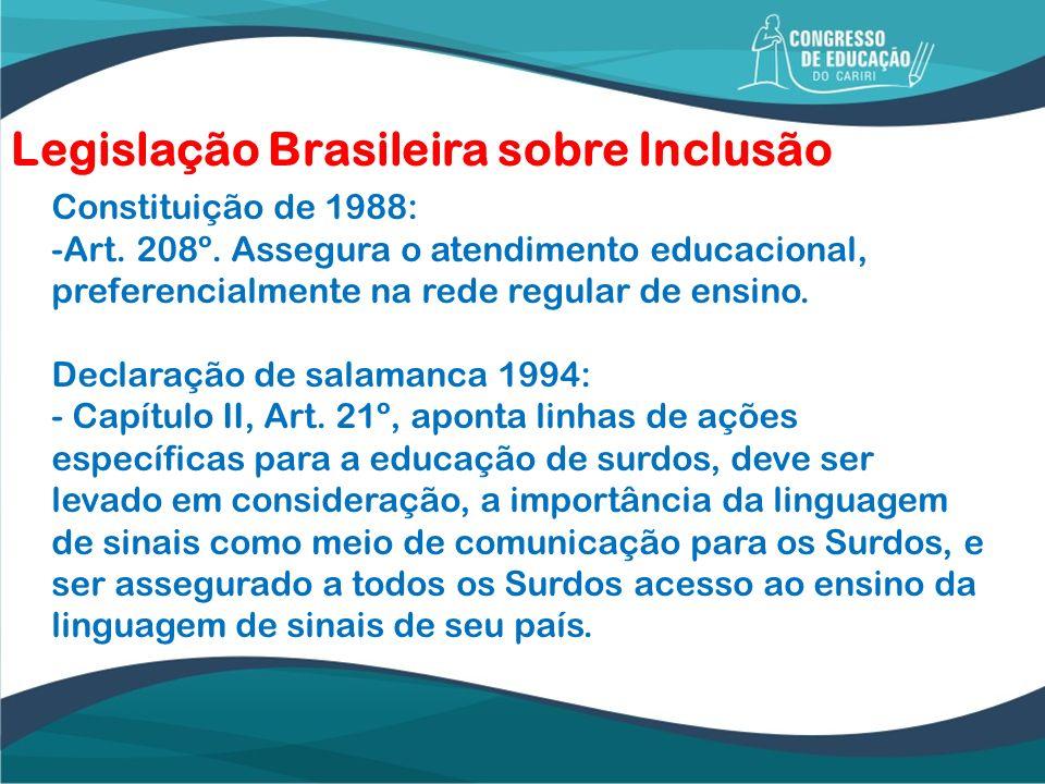 Legislação Brasileira sobre Inclusão