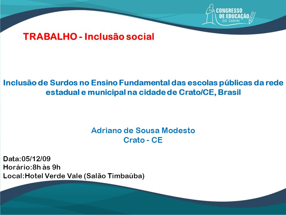 Adriano de Sousa Modesto Crato - CE