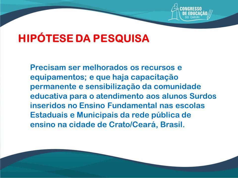 HIPÓTESE DA PESQUISA