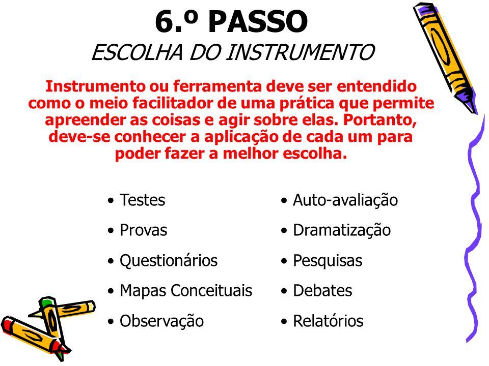ESCOLHA DO INSTRUMENTO