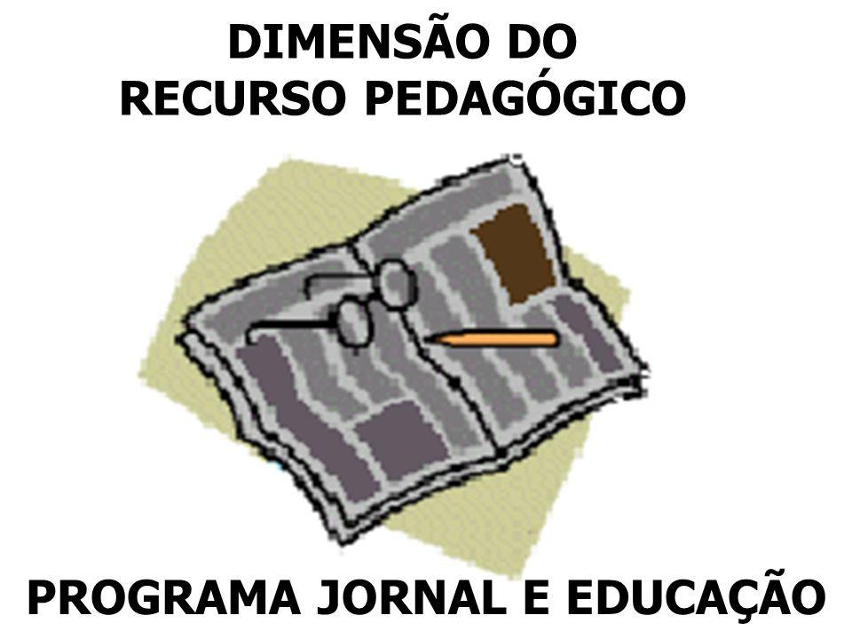 DIMENSÃO DO RECURSO PEDAGÓGICO