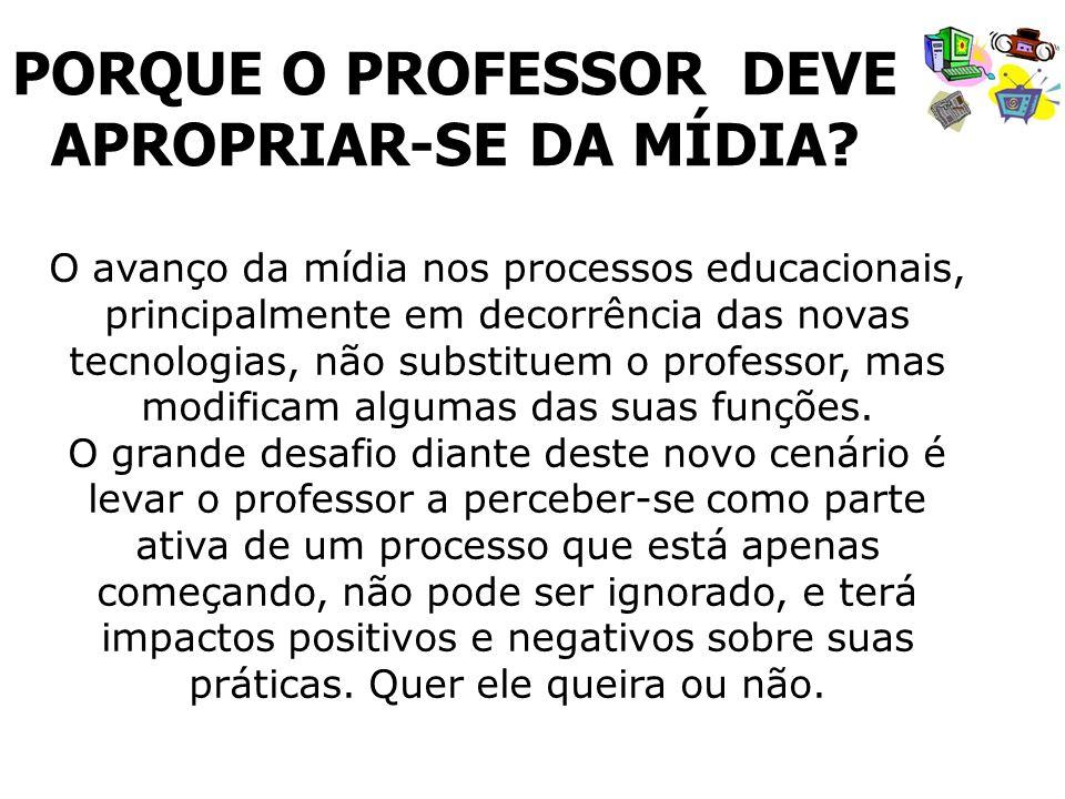PORQUE O PROFESSOR DEVE APROPRIAR-SE DA MÍDIA
