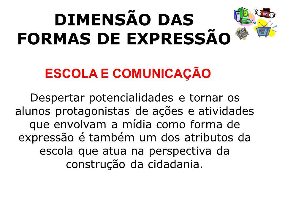 DIMENSÃO DAS FORMAS DE EXPRESSÃO