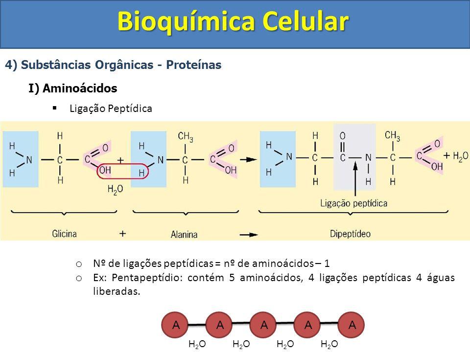 Bioquímica Celular 4) Substâncias Orgânicas - Proteínas I) Aminoácidos