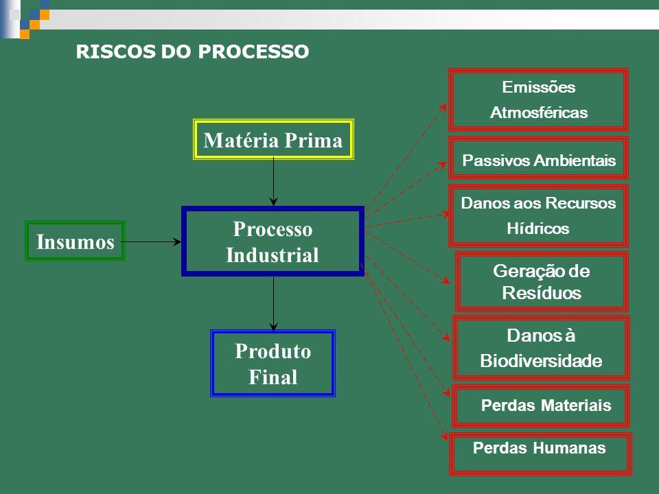Matéria Prima Processo Industrial Insumos Produto Final