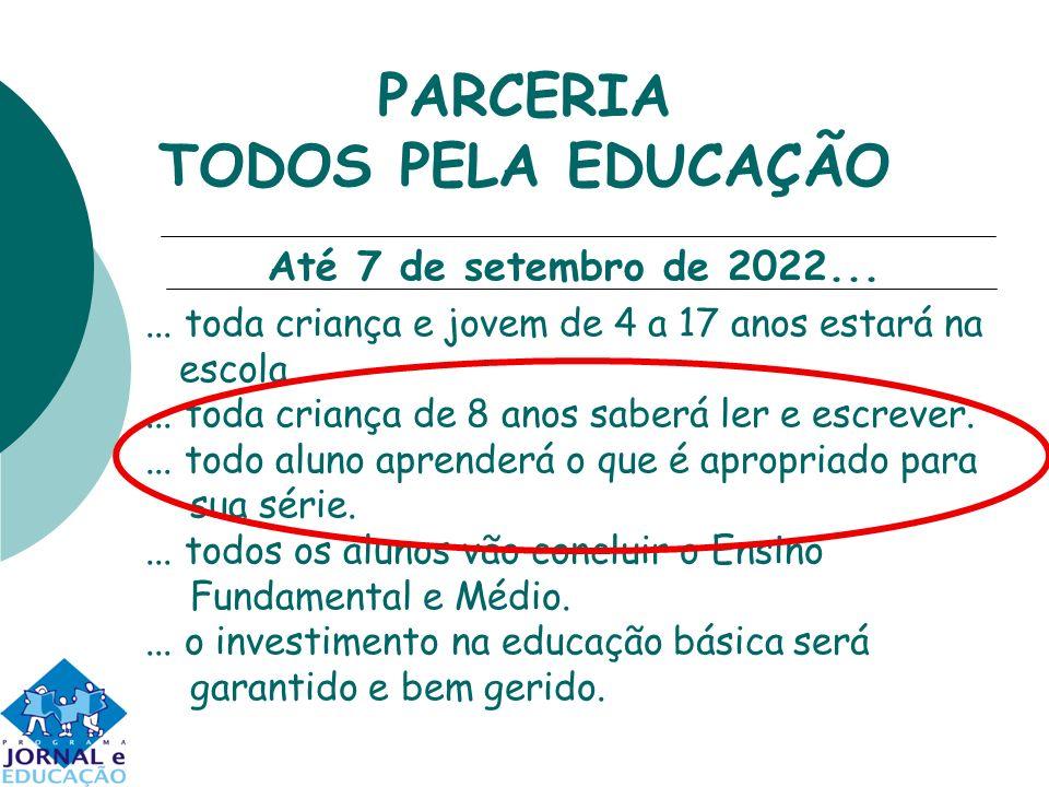 PARCERIA TODOS PELA EDUCAÇÃO