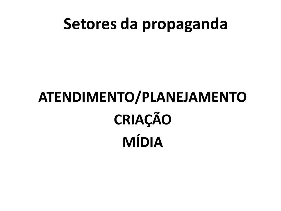 ATENDIMENTO/PLANEJAMENTO CRIAÇÃO MÍDIA