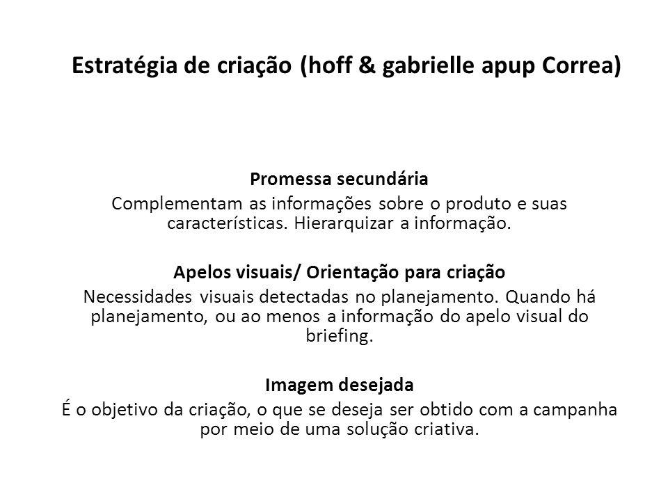 Estratégia de criação (hoff & gabrielle apup Correa)