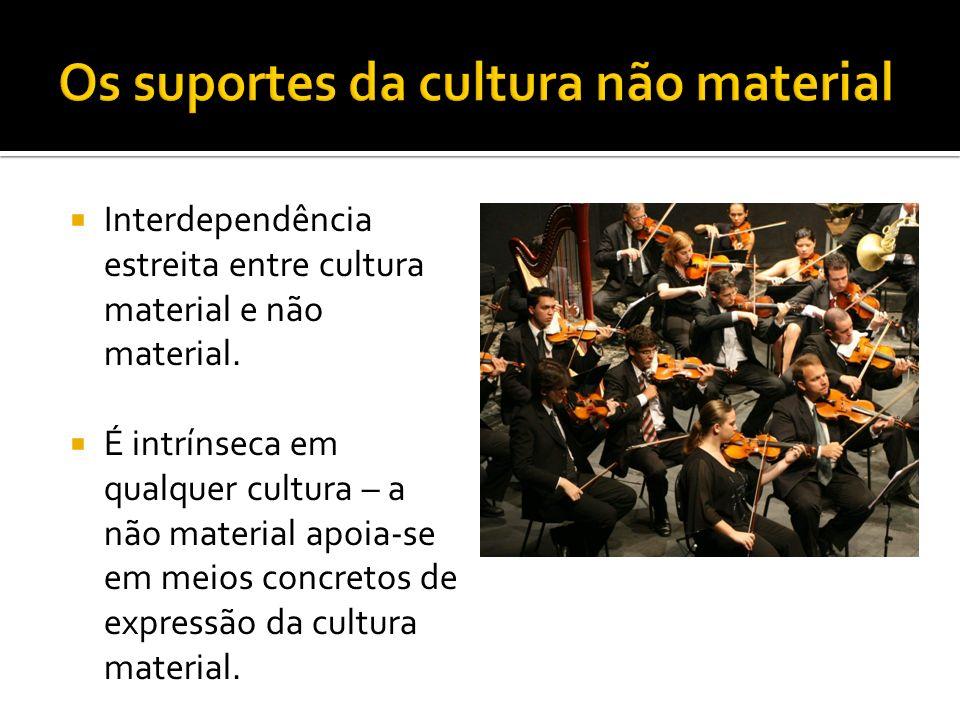 Os suportes da cultura não material