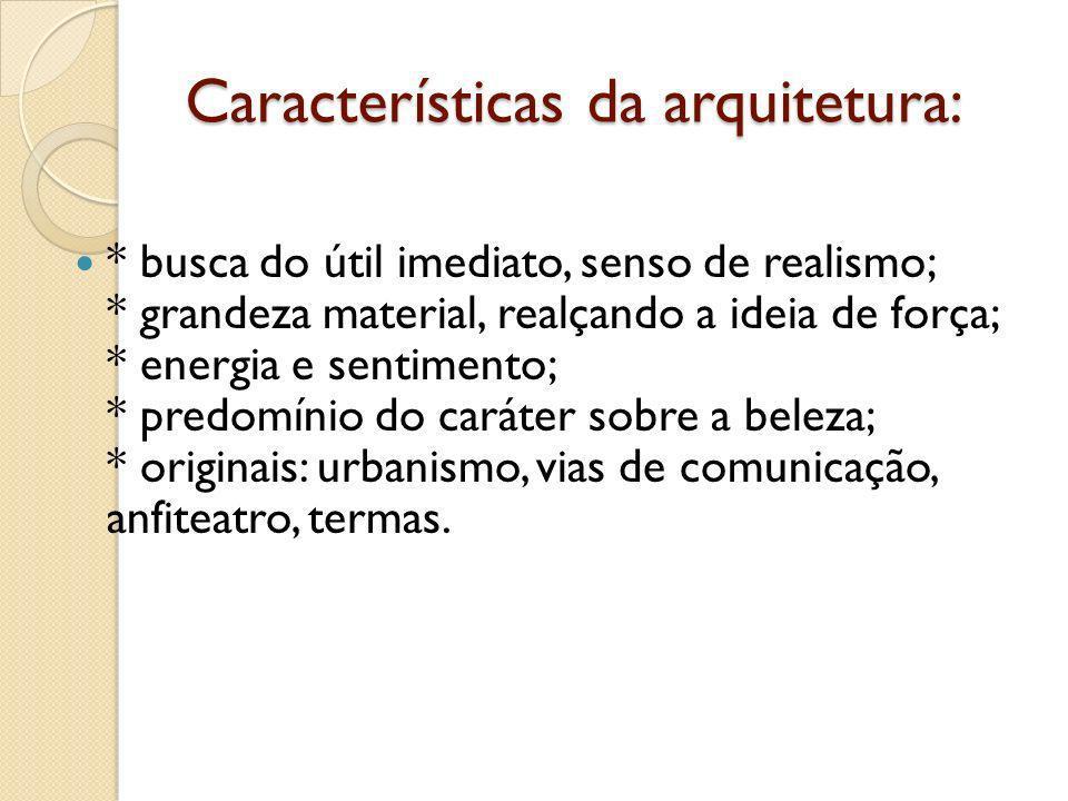 Características da arquitetura: