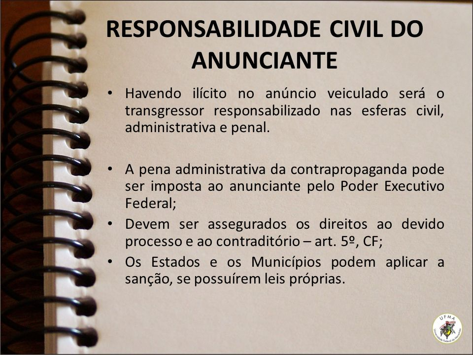 RESPONSABILIDADE CIVIL DO ANUNCIANTE