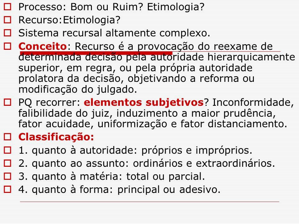 Processo: Bom ou Ruim Etimologia