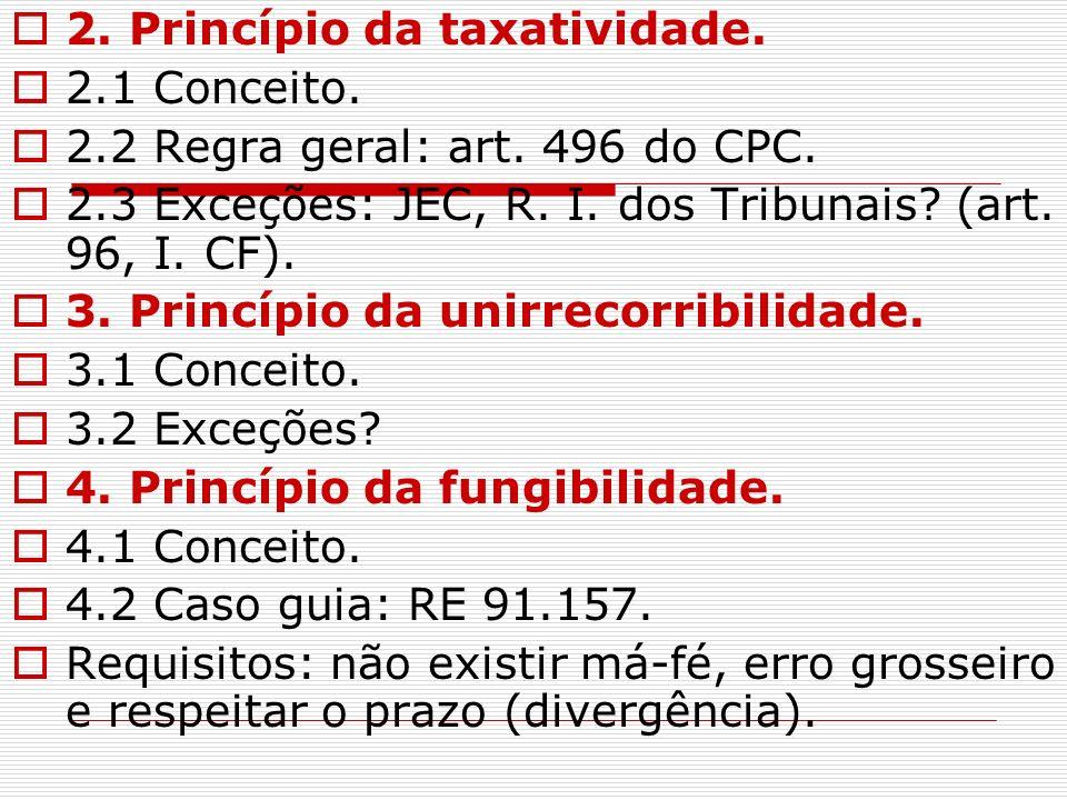 2. Princípio da taxatividade.