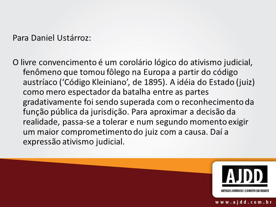 Para Daniel Ustárroz: