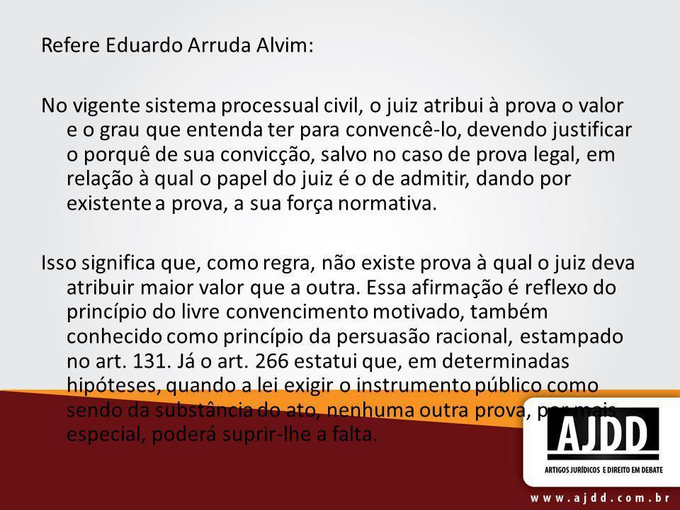 Refere Eduardo Arruda Alvim:
