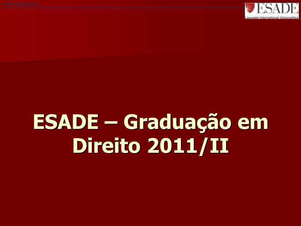 ESADE – Graduação em Direito 2011/II