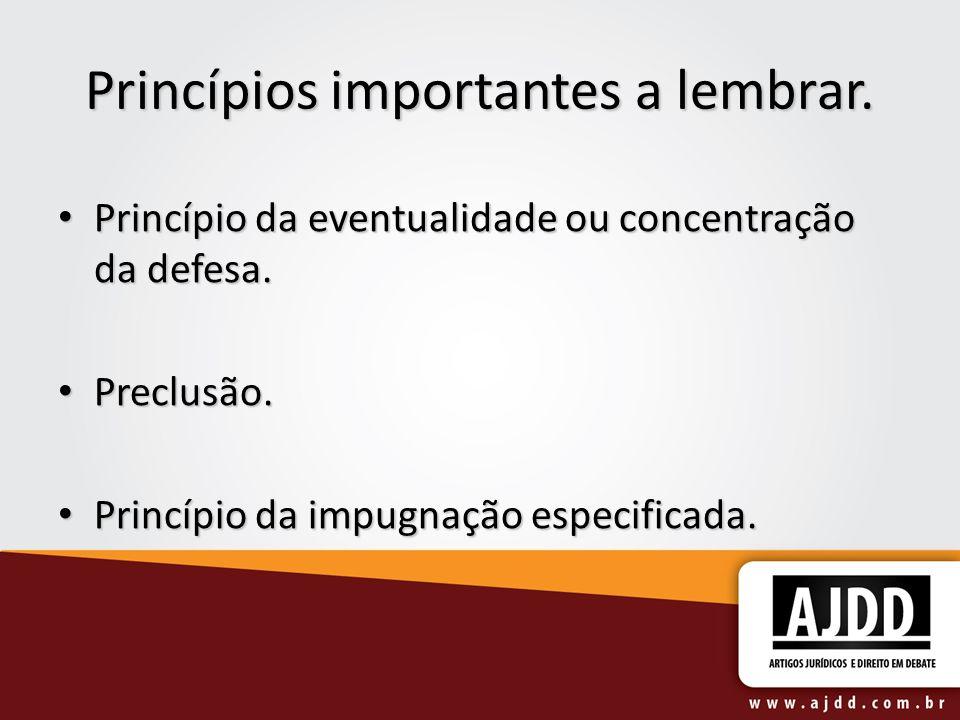Princípios importantes a lembrar.