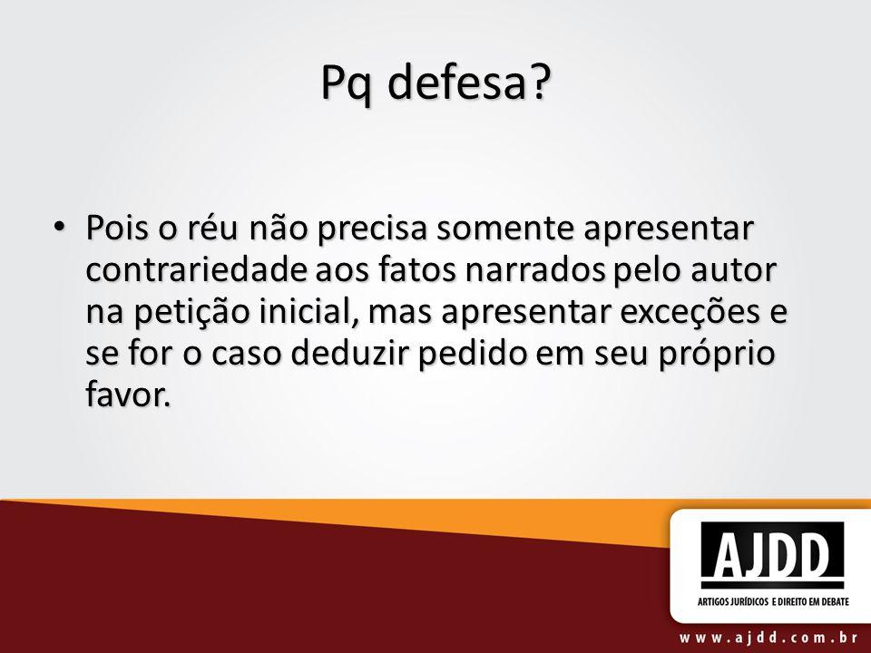 Pq defesa