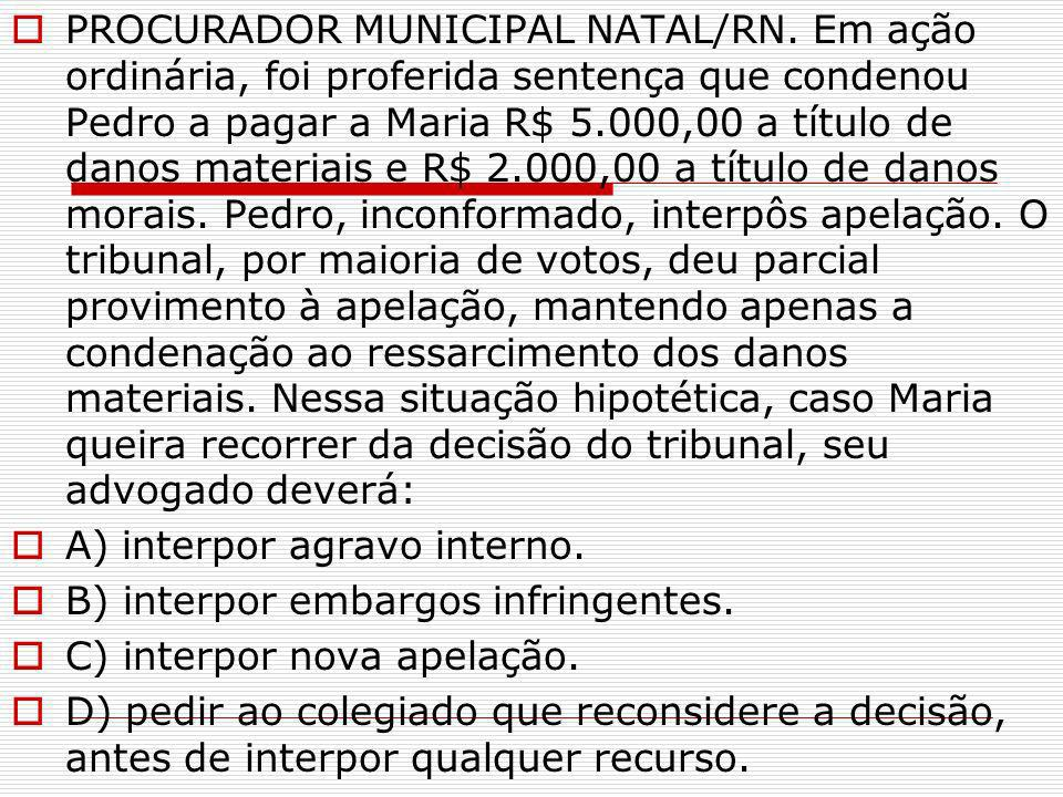PROCURADOR MUNICIPAL NATAL/RN
