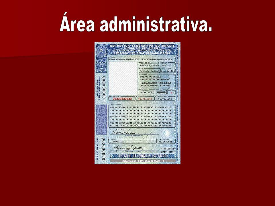 Área administrativa.