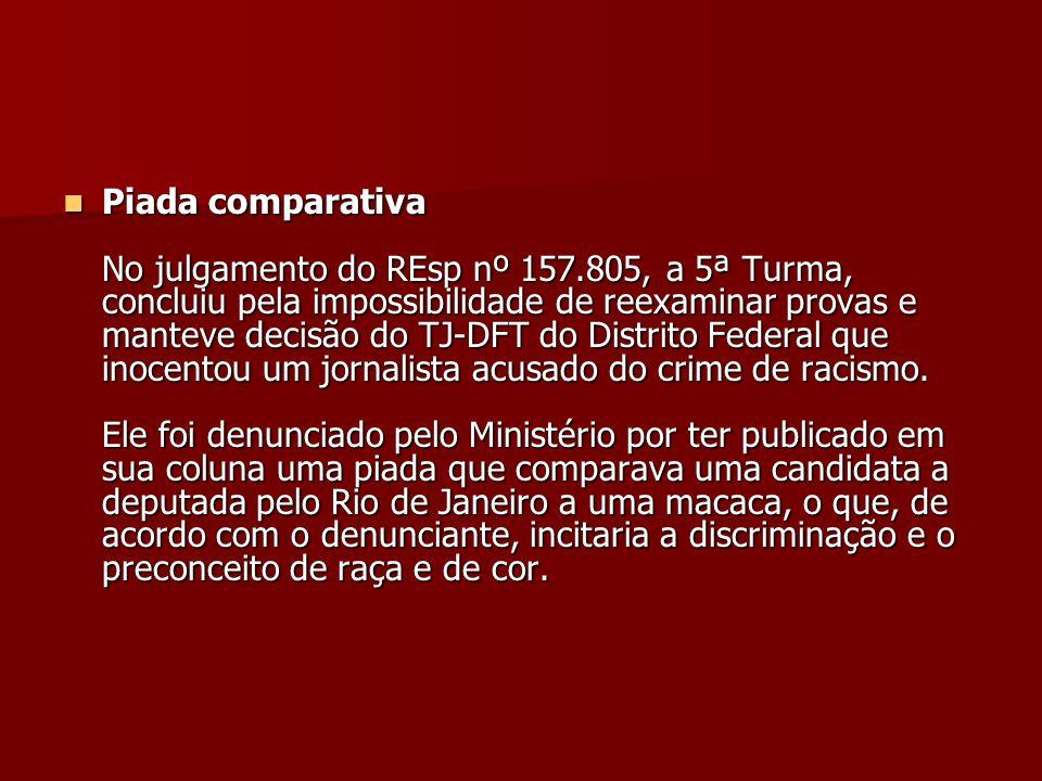 Piada comparativa No julgamento do REsp nº 157