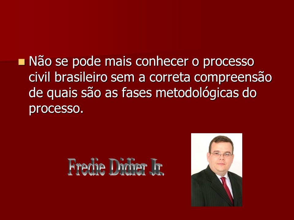 Não se pode mais conhecer o processo civil brasileiro sem a correta compreensão de quais são as fases metodológicas do processo.