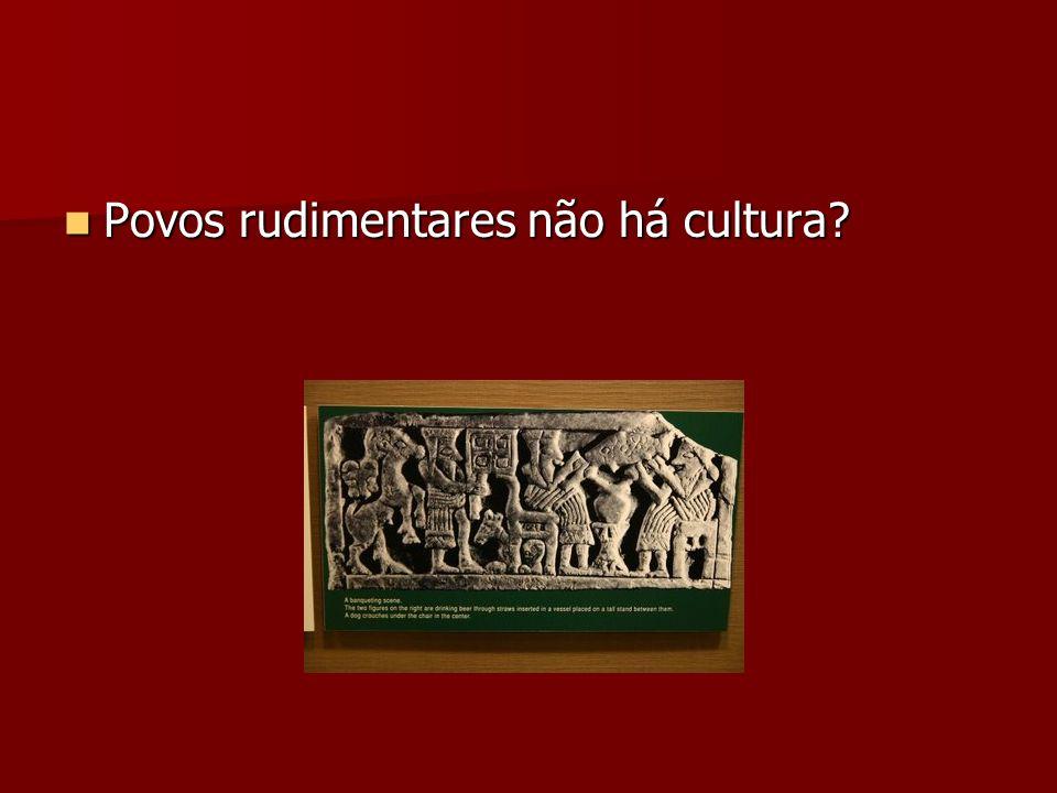 Povos rudimentares não há cultura