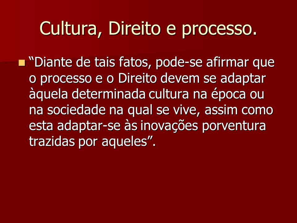 Cultura, Direito e processo.