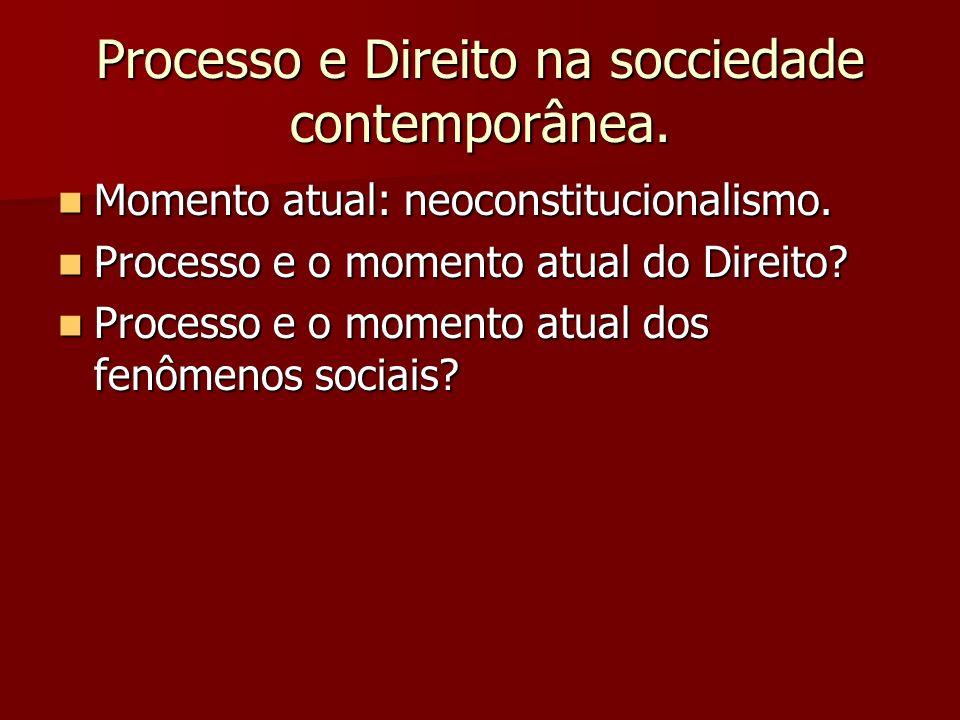 Processo e Direito na socciedade contemporânea.