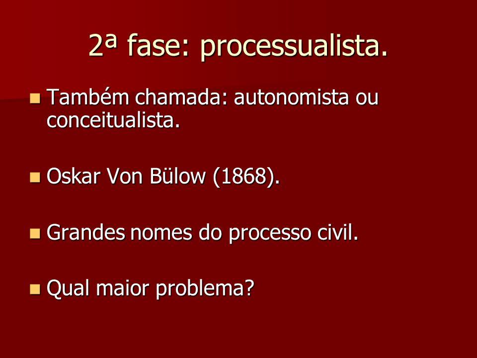 2ª fase: processualista.